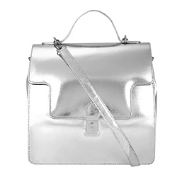 Structured Satchel Clasp Flap Bag