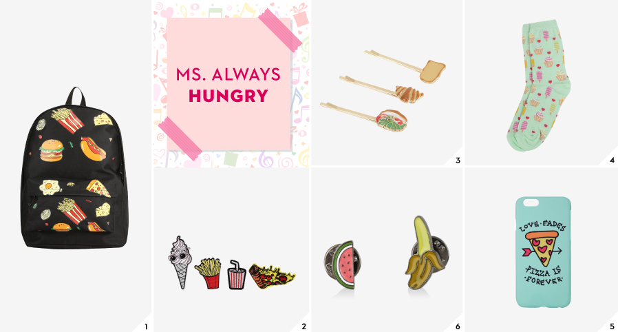 Shop gifts for Ms. Always Hungry