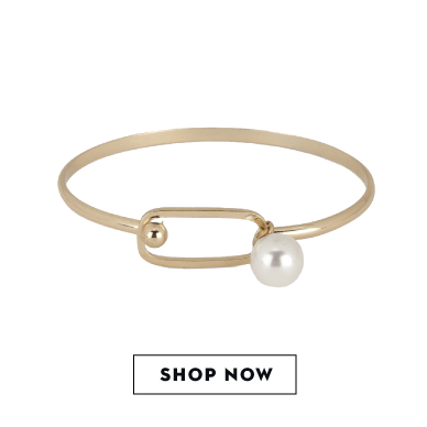 Shop KOOVS faux pearl bangle