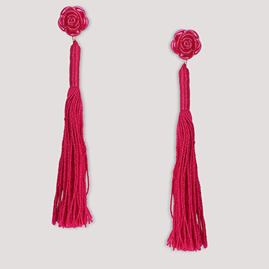 BLUEBERRY Tassel Drop Earrings Rs.499