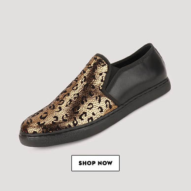 GRIFFIN Casual Slip Ons With Leopard Print Upper