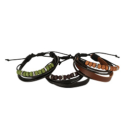 Cord And Beads Bracelets