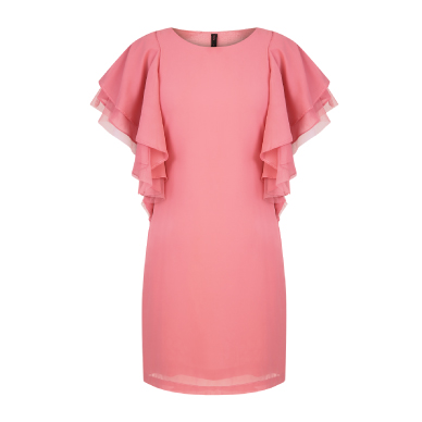 Oliv Ruffle Sleeve Dress