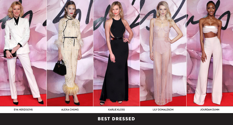 Best Dressed At Fashion Awards 2016