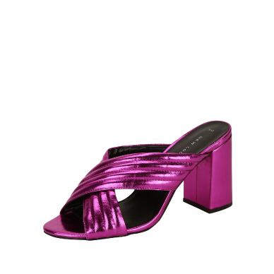 Shop New Look pleated flared heel mules