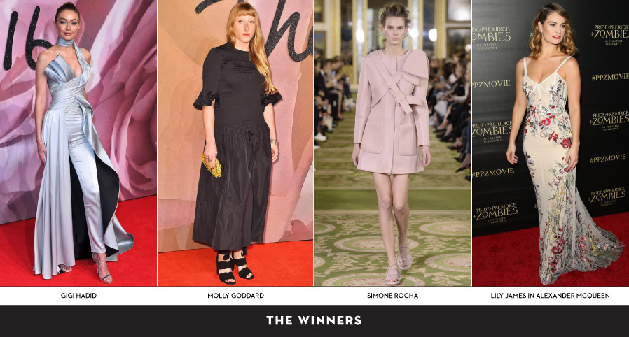 Winners At The Fashion Awards 2016