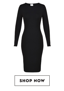 Shop KOOVS Ladder Sleeve Bodycon Dress