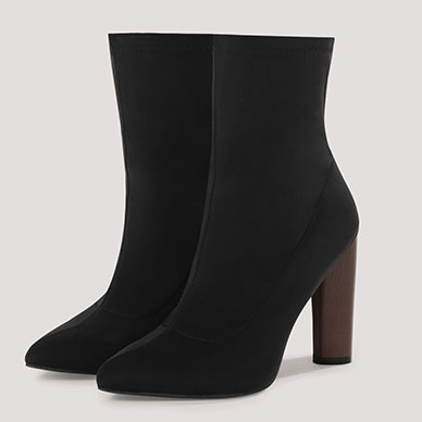 TRUFFLE COLLECTION Lycra High Ankle Boots Rs.3,499