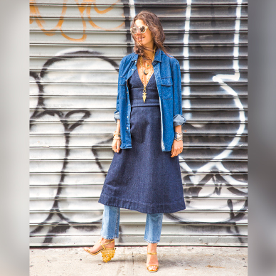 Man Repeller - Dress over Denims