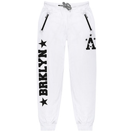 Cuffed Joggers With Text