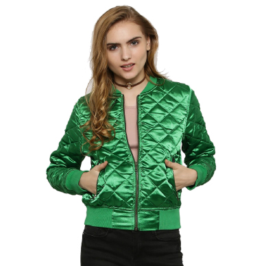 KOOVS Quilted Bomber Jacket