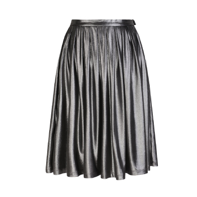 RIDRESS Metallic Pleated Skirt