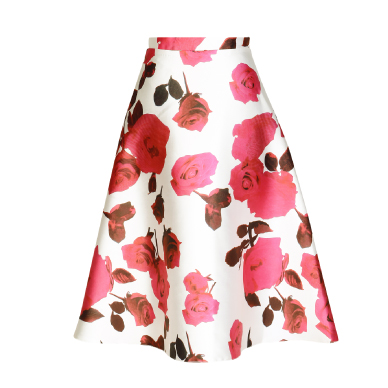 Ax Paris Floral Midi Skirt