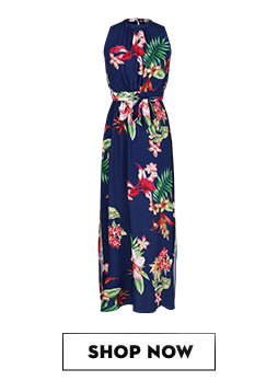 COVER STORY Tropical Print Maxi Dress Rs.3,990
