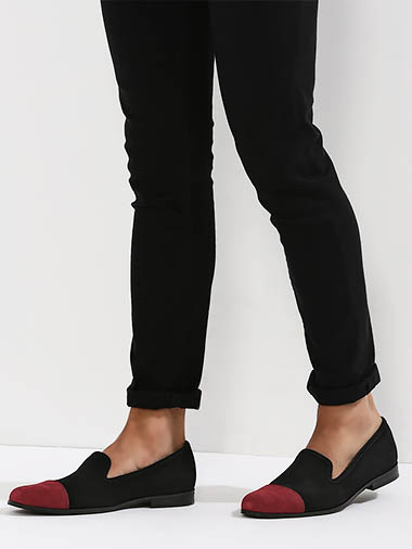 GRIFFIN Loafers With Contrast Toe Cap Detailing