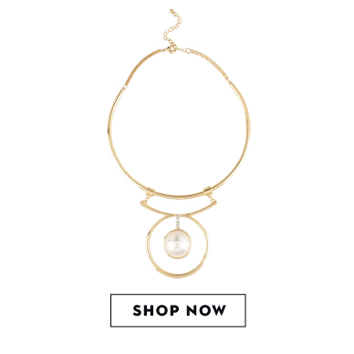 Shop KOOVS faux pearl necklace