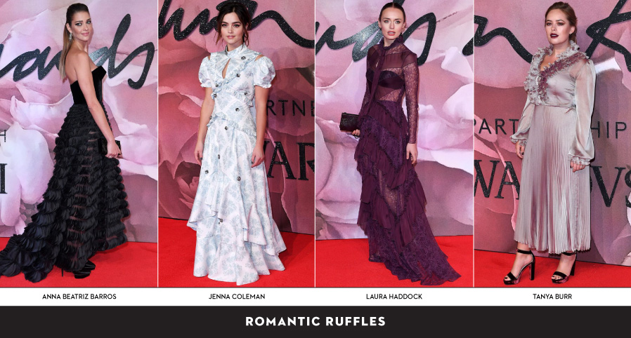 Ruffle trend at the Fashion Awards 2016