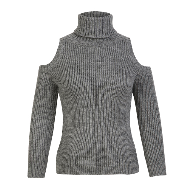KOOVS Cold Shoulder Roll Neck Jumper