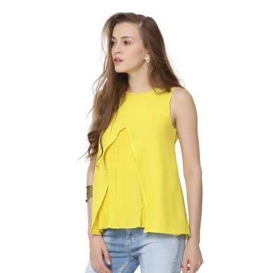 Ridress Front Pleated Top
