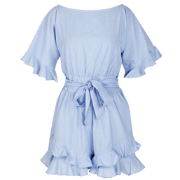 Frill Split Sleeve Playsuit