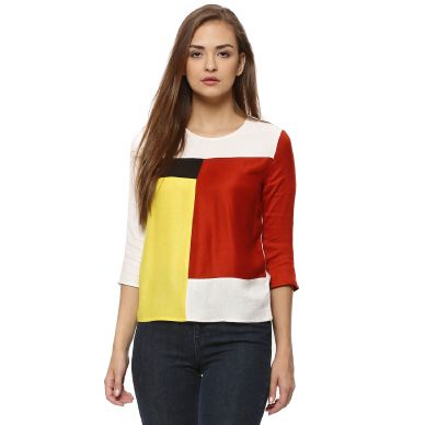 Shop KOOVS colour block top
